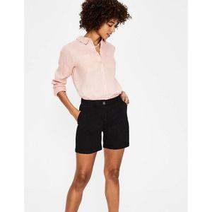 "Boden Helena Chino Shorts 3"" Black Cotton 6"